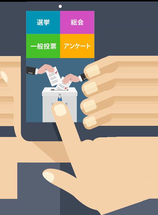 スマートフォン 簡単投票システム